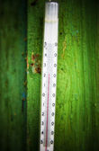 Old outdoors thermometer — Stock Photo