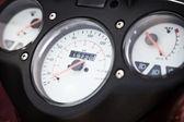 Motorcycle speedometer closeup — Stok fotoğraf
