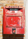 Old red mail box — Stock Photo