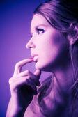 Young woman profile portrait — Stock Photo