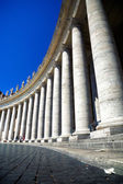 Colonnade on Saint Peter square in Rome — Stock Photo