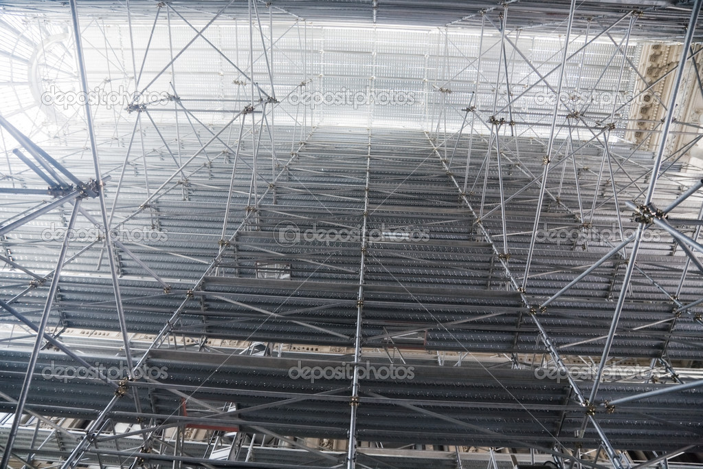 Great scaffold. Top in a fog. — Stock Photo #1328690