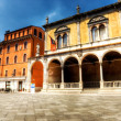 Italian square — Stock Photo