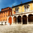 Italian square - Stock Photo