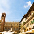 Traditional Italian square — Stock Photo