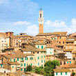 Roofs on traditional Italian buildings - Stock Photo