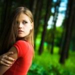 einsame Frau — Stockfoto