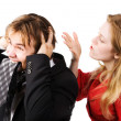 Man and woman conflict - Stock Photo