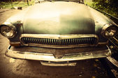 Old car front view — Stock Photo