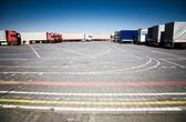 Trucks on a parking — Stock Photo