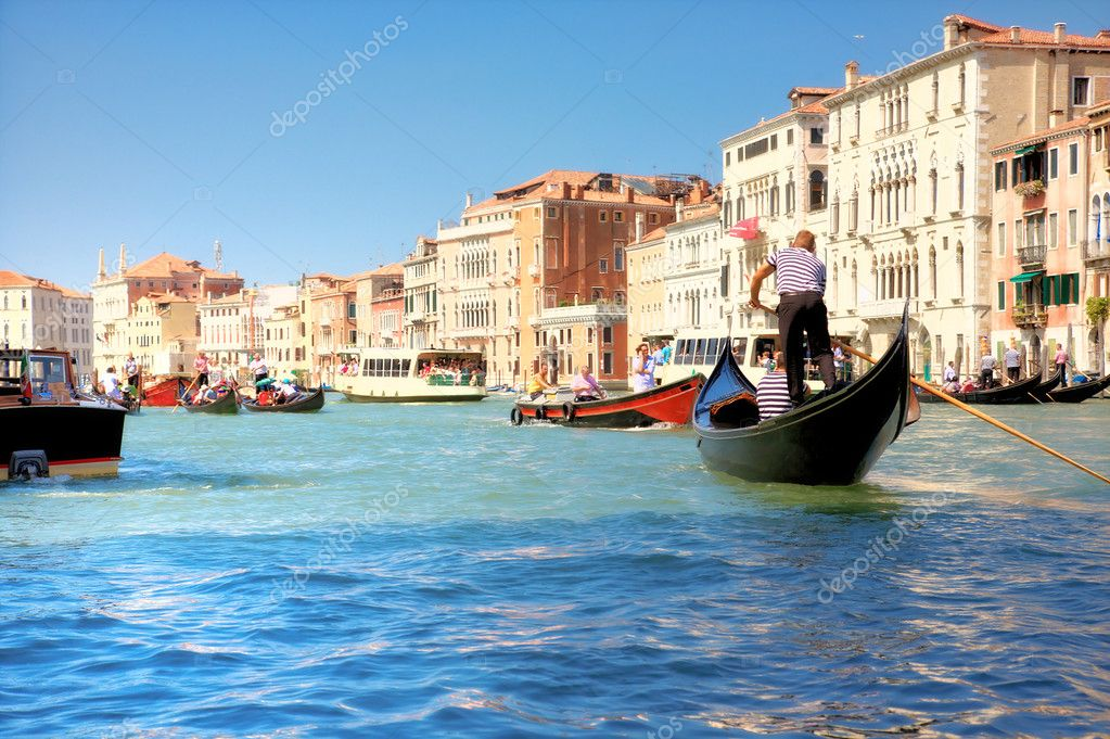 Grand Canal in Venice Italy. Soft colors effect. — Stock Photo #1332076