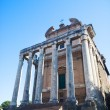Ancient building on Rome Forum - Stock Photo