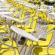 Restaurant tables outdoors — Stok fotoğraf