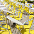 Restaurant tables outdoors — Stock fotografie
