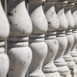 Ancient stone balustrade - Stock Photo