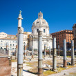 Ancient buildings on Rome Forum — Stock Photo