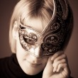 Young woman with mask portrait — Stock Photo #1348483