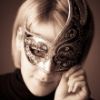 Stock Photo: Young womwith mask portrait