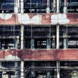 Old ruinous factory closeup — Foto Stock