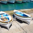 Two small boats — Stock Photo