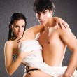 Young sexy couple passion — Stockfoto