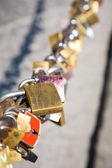 Locks on a chain — Stock Photo
