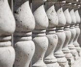 Ancient stone balustrade — Stock Photo