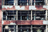 Old ruinous factory closeup — Stock Photo