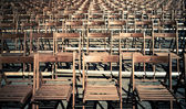 Lots of chairs — Stock Photo