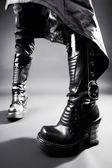 Goth heavy boots — Stock Photo