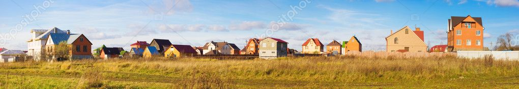 Modern holiday village in Russia. Panorama. — Stock Photo #1348653