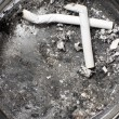 Ash-tray with cigarettes - Stock Photo