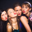 Four woman showing kiss sign — Stock Photo #1355531