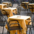 Cafe tables outdoors — Foto Stock