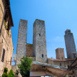 High ancient towers in Italian city — Stock Photo