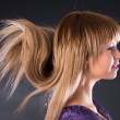 Special hairstyle — Stock Photo