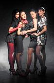 Four women on a party — Stock Photo