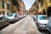 Italian street with cars — Stock Photo