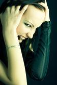 Goth woman portrait — Stock Photo