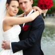Young wedding couple — Stock Photo #1368998