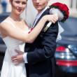 Young wedding couple — Stock Photo #1369040