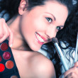 Makeup artist portrait - Stock Photo