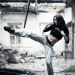 Woman fighter — Stock Photo #1369150