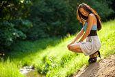 Молодая худая женщина — Стоковое фото