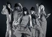 Five women team — Stock Photo