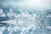 Water splashes closeup — Stock Photo