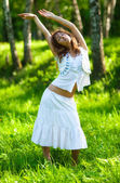 Young woman nature relax — Stock Photo