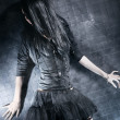 Goth woman fashion — Stock Photo