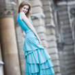 Young slim woman in dress — Stock Photo #1372747