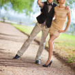 Stock Photo: Young couple fashion